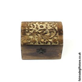 Fair-Trade-Mango-Wood-Trinket-Chest-Flower