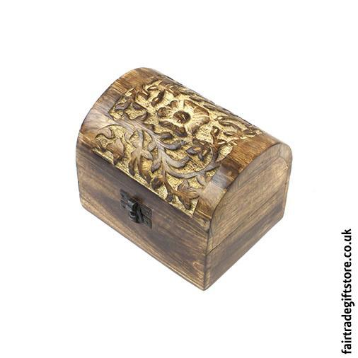 Fair-Trade-Mango-Wood-Trinket-Chest-Flower-side