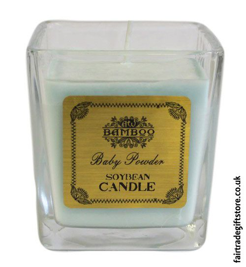Fair-Trade-Soy-Wax-Candle-Baby-Powder