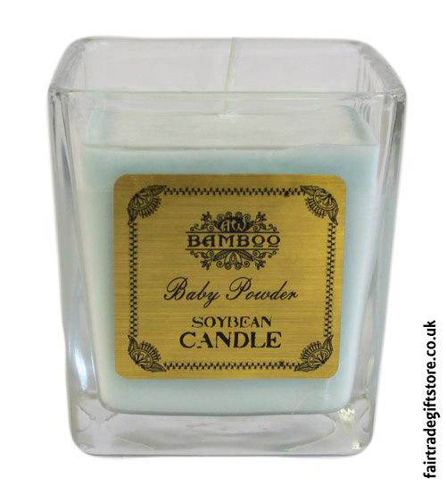 Fair-Trade-Soy-Wax-Candle-Baby-Powder