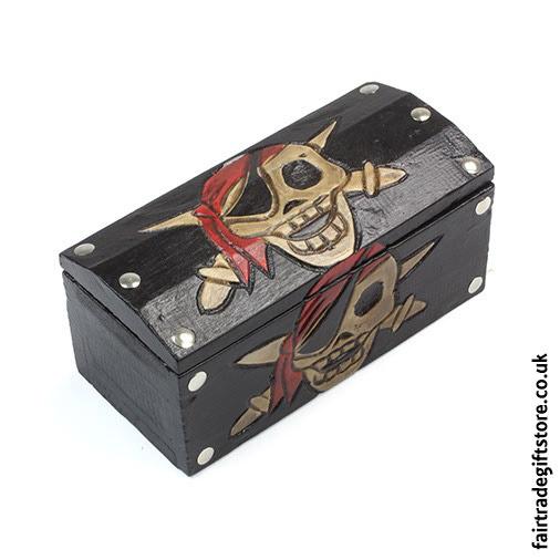 Fair-Trade-Trinket-Box-Pirate-Skull-Treasure-Chest