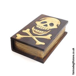 Fair-Trade-Wooden-Trinket-Box-Skull-Book
