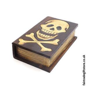 Fair-Trade-Wooden-Trinket-Box-Skull-Book