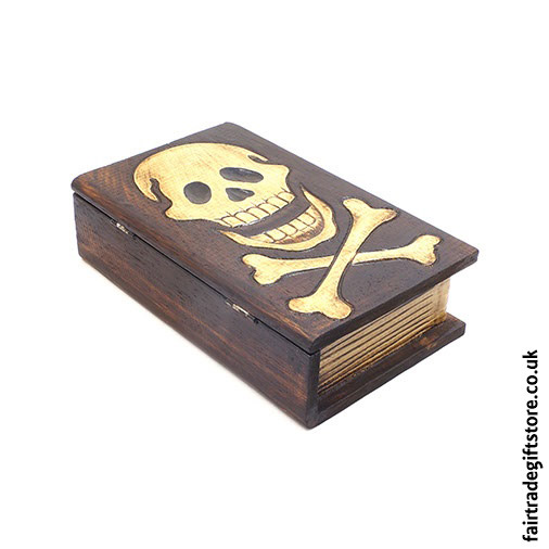 Fair-Trade-Wooden-Trinket-Box-Skull-Book-side