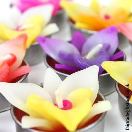 Fair-Trade-Sculpted-Tea-Light-Candles-Orchid-Flower-close-up