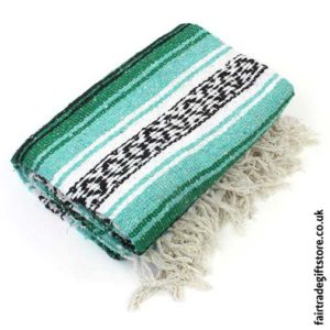 Fair-Trade-Mexican-Falsa-Rug-blanket-Green