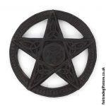 Fair Trade Wall Plaques - Carved Pentacle