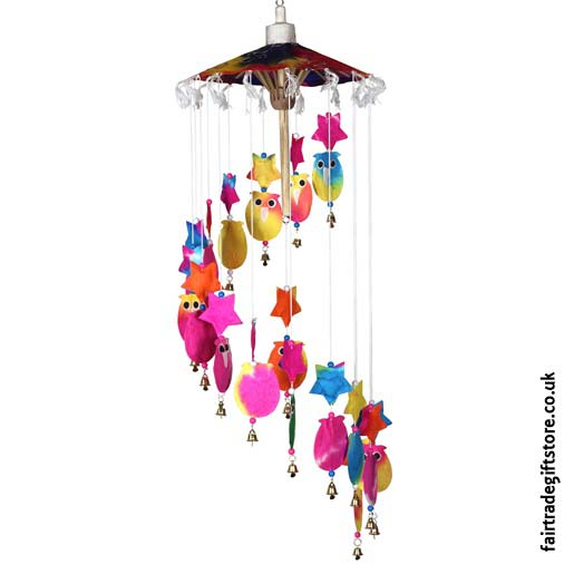 Saa-Paper-Mobile-with-Bells-Multicolour-Owls