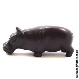 Fair Trade Resin Hippopotamus Statue