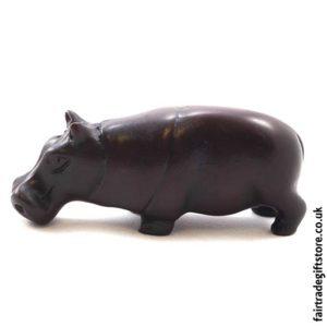 Fair Trade Resin Hippopotamus Statue