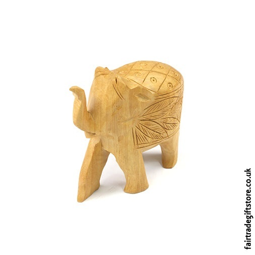 Wooden Hand Carved Elephant Statue