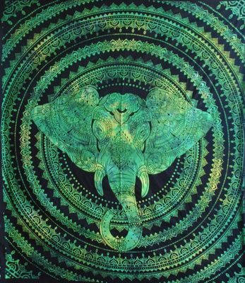 Green-Double-Elephant-Mandala-Throw