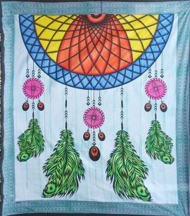 Multicoloured-Dreamcatcher-Throw