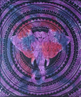 Purple-Double-Elephant-Mandala-Throw
