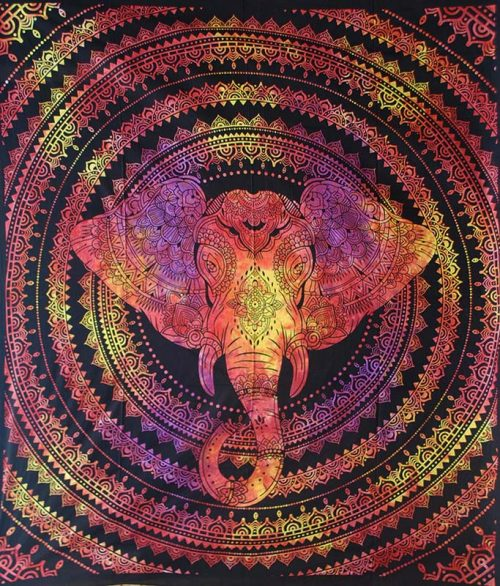 Red-Double-Elephant-Mandala-Throw