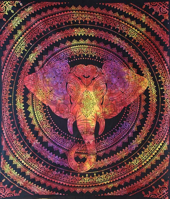 Red-Double-Elephant-Mandala-Throw