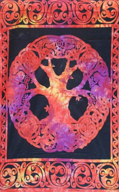Red-Single-Celtic-Tree-Throw