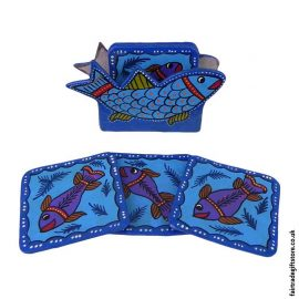 Fair-Trade-Hand-Painted-Coasters---Blue