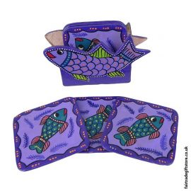 Fair-Trade-Hand-Painted-Coasters---Purple