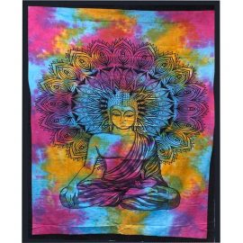 Cotton Throw - Buddha- Wall Hanging - Bed Spread