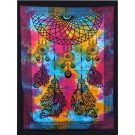 Cotton Throw - Dreamcatcher - Wall Hanging - Bed Spread