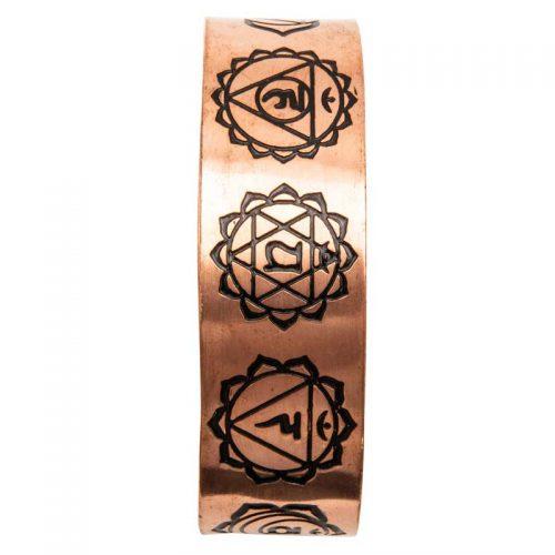 Fair-Trade-Chakra-Copper-Bracelet-detail