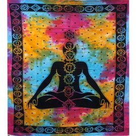 Fair Trade Cotton Throw - Chakra - Wall Hanging - Bed Spread