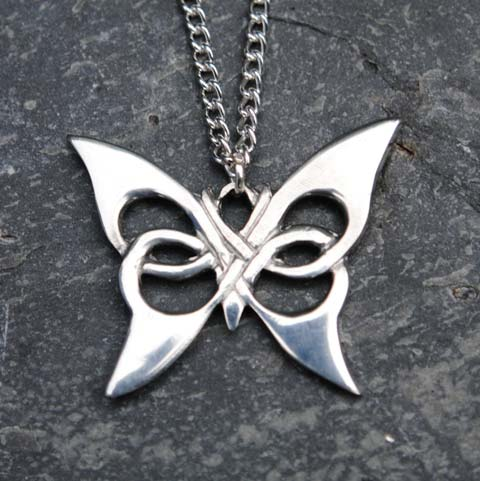 Handmade-Pewter-Celtic-Butterfly-Necklace