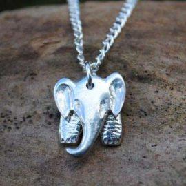 Handmade-Pewter-Elephant-Necklace