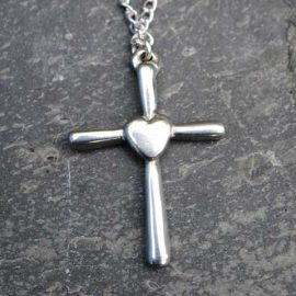 Handmade-Pewter-Heart-Cross-Necklace