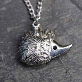 Handmade-Pewter-Hedgehog-Necklace