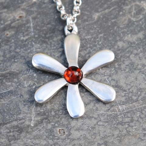 Handmade-Pewter-Jasmine-Necklace-with-Amber-Gem