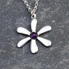 Handmade-Pewter-Jasmine-Necklace-with-Amethyst-Gem