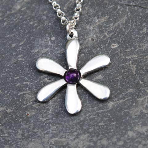 Handmade-Pewter-Jasmine-Necklace-with-Amethyst-Gem