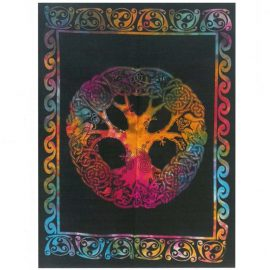 Tie Dye Wall Art Wall Hanging - Celtic Tree