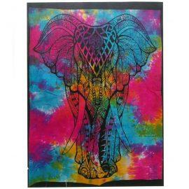 Tie Dye Wall Art Wall Hanging - Elephant