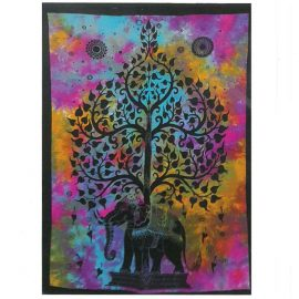 Tie Dye Wall Art Wall Hanging - Elephant
