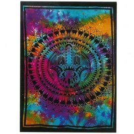 Tie Dye Wall Art Wall Hanging - Hamsa Hand