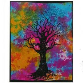 Tie Dye Wall Art Wall Hanging - Tree