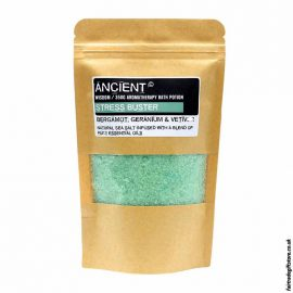 Fair-Trade-Bergamot,-Germanium-Vetiver-Stress-Relief-Sea-Salt-Bath-Salts