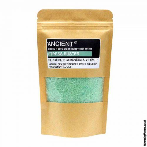 Fair-Trade-Bergamot,-Germanium-Vetiver-Stress-Relief-Sea-Salt-Bath-Salts
