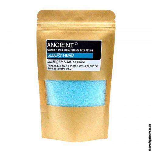 Fair Trade Lavender & Marjoram Sleepy Sea Salt Bath Salts