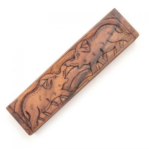Fair-Trade-Elephant-Suar-Wood-Trinket-Box