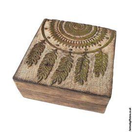 Fair-Trade-Mango-Wood-Trinket-Box-Dreamcatcher