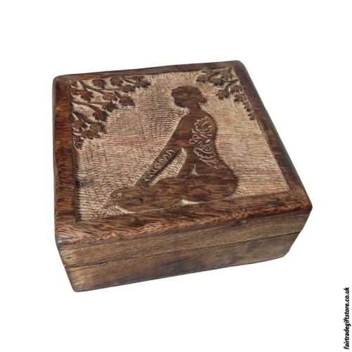 Fair-Trade-Mango-Wood-Trinket-Box-Meditation