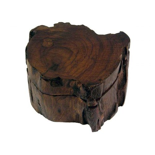 Fair-Trade-Mini-Wooden-Log-Trinket-Box