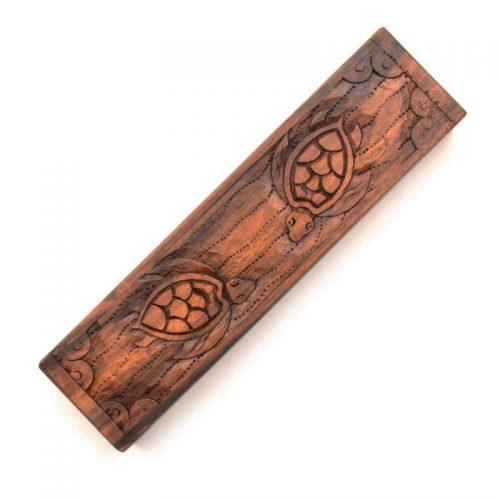 Fair-Trade-Turtle-Suar-Wood-Trinket-Box