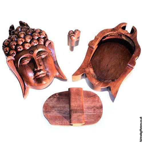 Fair-Trade-Wooden-Puzzle-Trinket-Box-Buddha-Head-open