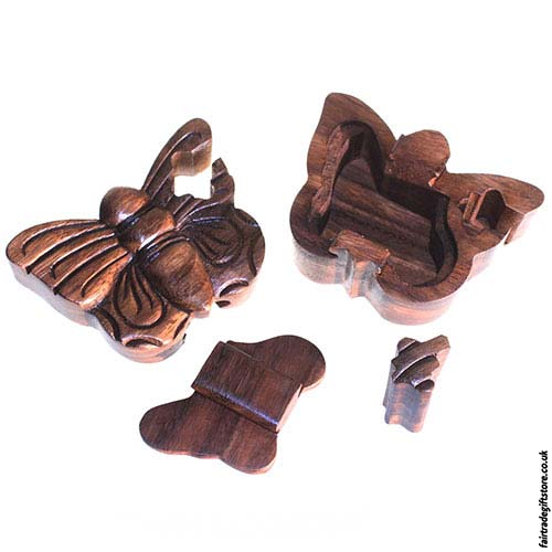 Fair-Trade-Wooden-Puzzle-Trinket-Box-Butterfly-open