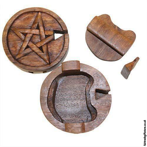 Fair-Trade-Wooden-Puzzle-Trinket-Box-Pentagram-open